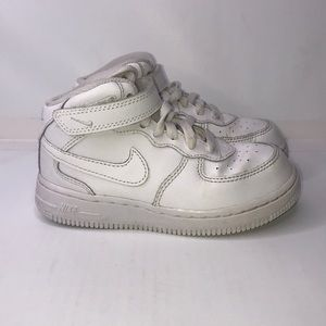 Nike Air - Air Force 1 Mid White Unisex 9c Toddler